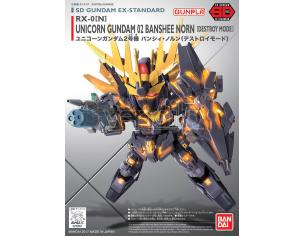 BANDAI MODEL KIT SD GUNDAM UN BANSH NORN DSTR EX STD 015 MODEL KIT