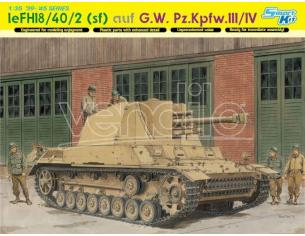 Dragon D6710 LE.FH 18/40/2 SFL AUF G.W.PZ.III/IV KIT 1:35 Modellino