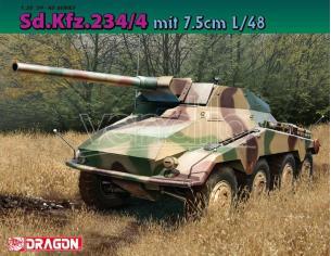 Dragon D6814 SD.KFZ.234 MIT 7,5 cm L/48 KIT 1:35 Modellino