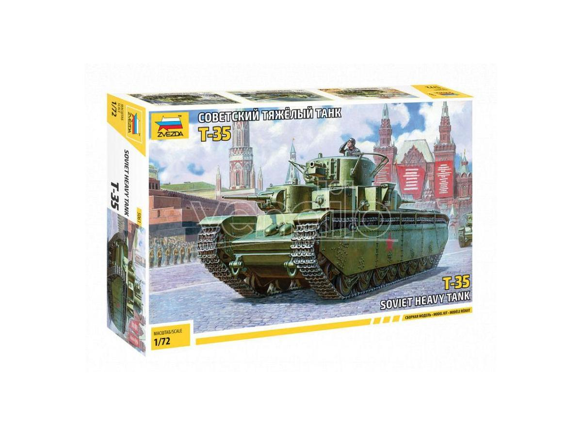 Zvezda Z5061 SOVIET HEAVY TANK T-35 KIT 1:72 Modellino