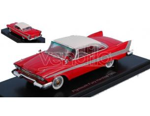 Neo Scale Models NEO46087 PLYMOUTH FURY HARD TOP 1958 RED/WHITE 1:43 Modellino