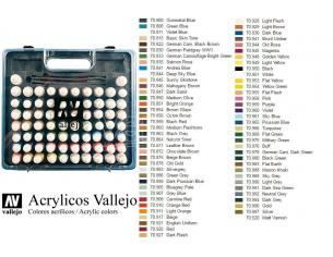 VALLEJO MODEL COLOR COMBINATION BOX SET 70175 COLORI