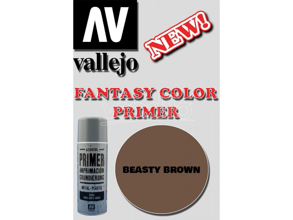 VALLEJO FANTASY COLOR PRIMER BEASTY BROWN 28019 COLORI