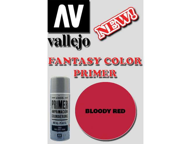VALLEJO FANTASY COLOR PRIMER BLOODY RED 28023 COLORI