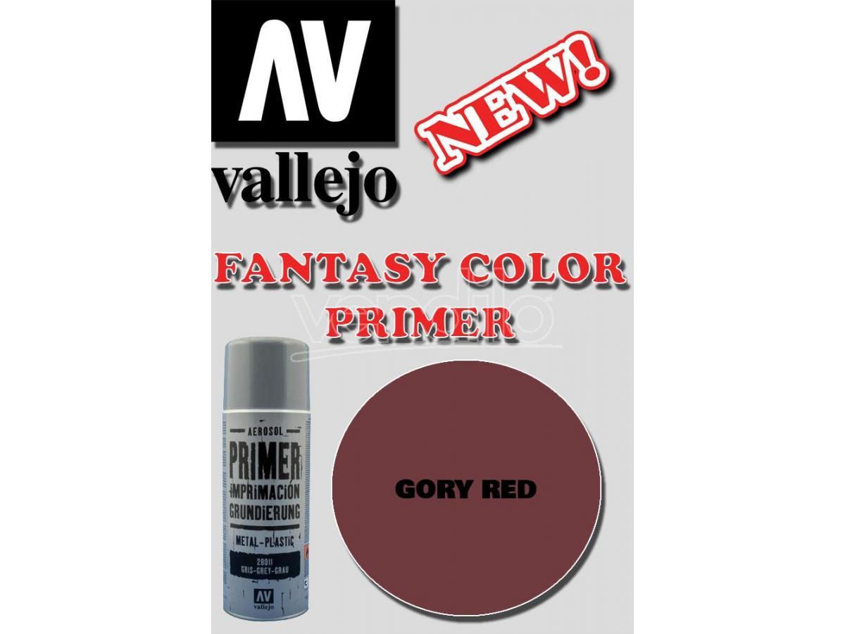 VALLEJO FANTASY COLOR PRIMER GORY RED 28029 COLORI