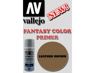 VALLEJO FANTASY COLOR PRIMER LEATHER BROWN 28014 COLORI