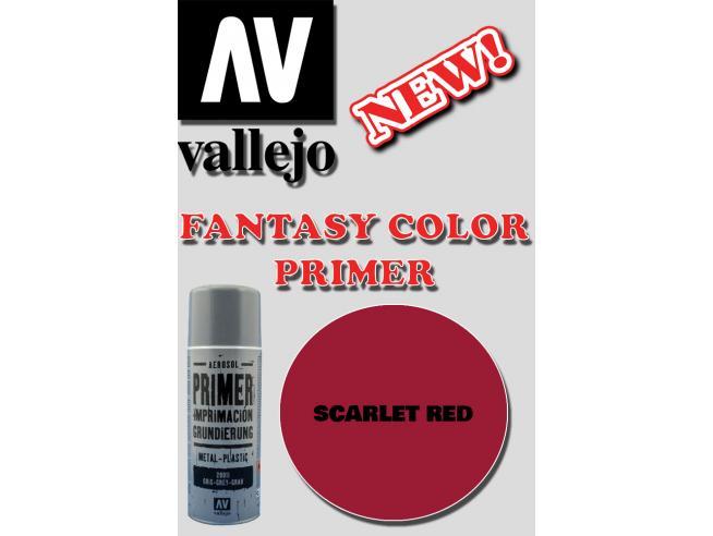 VALLEJO FANTASY COLOR PRIMER SCARLET RED 28016 COLORI
