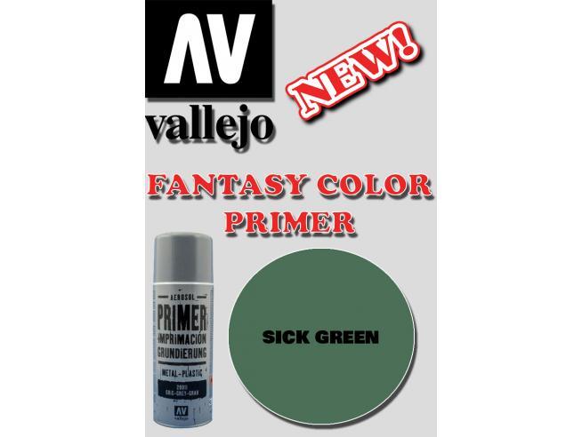 VALLEJO FANTASY COLOR PRIMER SICK GREEN 28028 COLORI