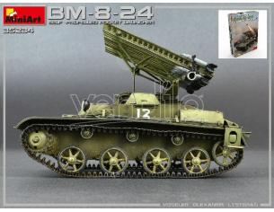 Miniart MIN35234 BM-8-24 SELF-PROPELLED ROCKET LAUNCHER KIT 1:35 Modellino