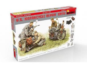 Miniart MIN35284 U.S.MOTORCYCLE REPAIR CREW KIT 1:35 Modellino