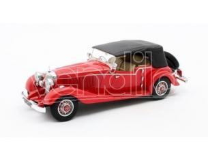 MATRIX SCALE MODELS MX41302-142 MERCEDES 500K TOURER MAYFAIR CLOSED 1934 RED 1:43 Modellino
