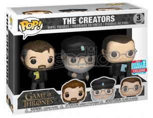 Funko Game Of Thrones Pop Serie Tv Vinile 3 Figura I Creatori Scatola Rovinata
