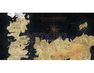 SD TOYS GAME OF THRONES WESTEROS MAP ON GLASS POSTER