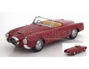 BOS MODEL BOS263 LANCIA AURELIA PF 200 C SPIDER DARK RED 1:18 Modellino