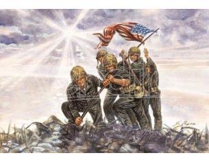 Italeri It6098 Iwo Jima Bandiera Raisers Kit 1:72 Modellino Scatola Rovinata