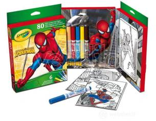 Crayola 31300 Mini Pagine da Colorare 6 mini pennarelli Spider man