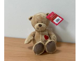 Peluche Orsetto cuore ricamato Stichy Beige 23 cm Plush & Company San Valentino