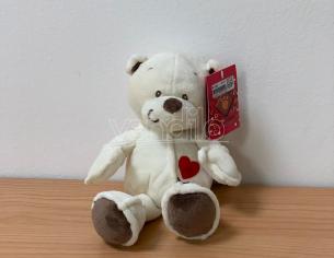 Peluche Orsetto cuore ricamato Stichy Bianco 23 cm Plush & Company San Valentino