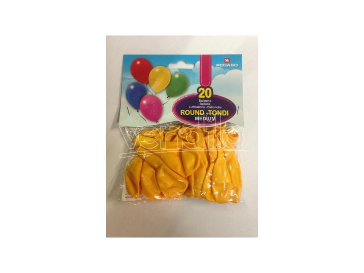 Pegaso Confezione Palloncini Medium Gialli 20 Pezzi tondi