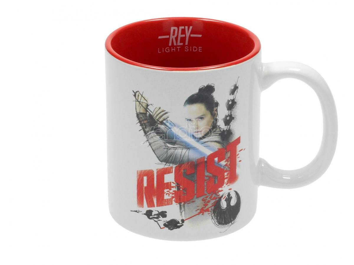 SD TOYS SW EP VIII REY RESIST WHITE-RED MUG TAZZA