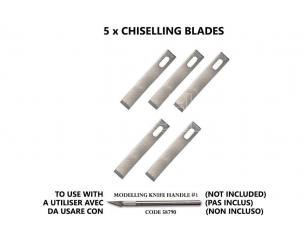 VALLEJO CHISELLING BLADES (5) FOR NO.1 HANDLE ACCESSORI PER MODELLISMO