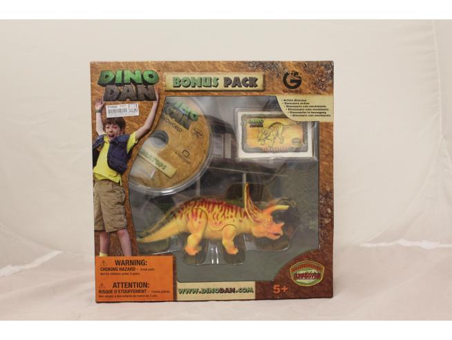 GEOWORLD DD046K Dino Dan BONUS PACK TRICERATOPS ARTICOLATO + DVD