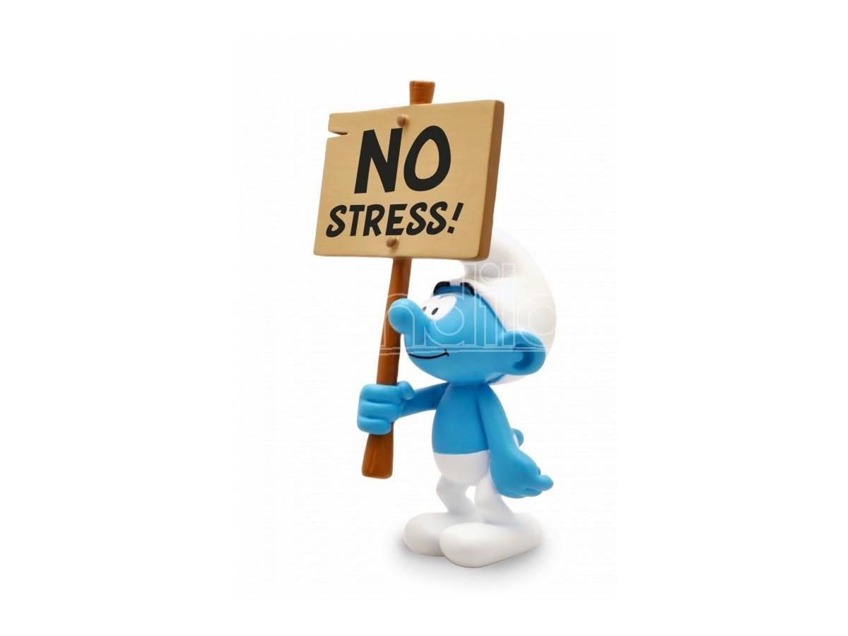 PLASTOY SMURF NO STRESS SIGN STATUE STATUA