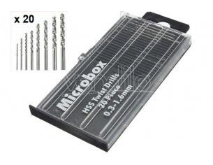 VALLEJO MICROBOX DRILL BITS SET (20) 0.3-1.6mm ACCESSORI PER MODELLISMO