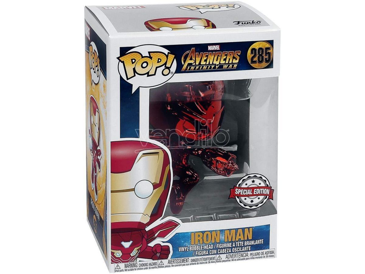 Funko Avengers Infinity War POP Marvel Vinile Iron Man cromato Edizione Speciale