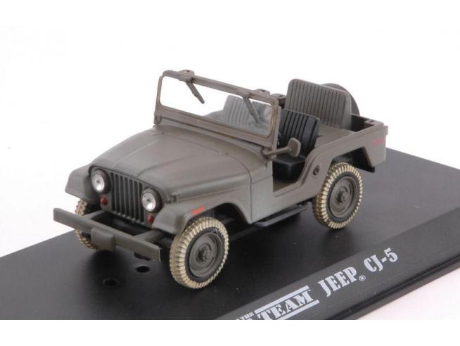 Greenlight GREEN86526 JEEP CJ-5 A-TEAM (1983-87 TV SERIES) GREEN 1:43 Modellino