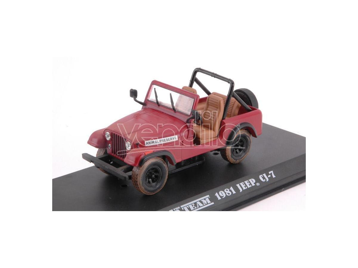 Greenlight GREEN86528 JEEP CJ-5 A-TEAM (1983-87 TV SERIES) RED 1:43 Modellino