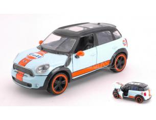 Motormax Mtm79653 Mini Cooper S Countryman Gulf Light Blue Arancione 1:24 Modellino