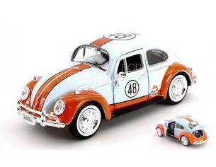 Motormax Mtm79655 Vw Beetle 1966 N.48 Gulf Light Blue/arancione 1:24 Modellino
