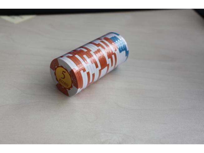DAL NEGRO 715369 - N.5 FICHES DA 100 EURO E N. 2 FICHES DA 5 EURO