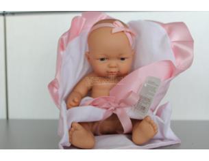 RAUBER - Bambola rosa neonato con cuscino 25 cm