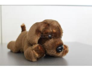 PLAYTIME - PELUCHE CANE MARRONE SCURO 18CM