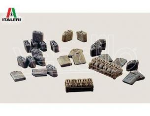 Italeri IT0402 JERRY CANS KIT 1:35 Modellino