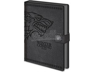 PYRAMID INTERNATIONAL GAME OF THRONES STARK NOTEBOOK PREMIUM TACCUINO