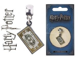 Harry Potter  Carat  Hogwarts Express Ticket Slider Charm Ciondolo