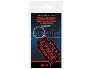 PYRAMID INTERNATIONAL STRANGER THINGS UPSIDE DOWN KEYCHAIN PORTACHIAVI