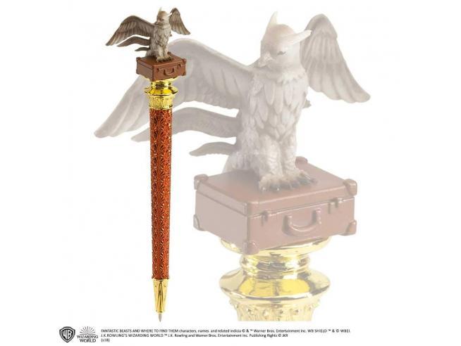 Penna con Figura Thunderbird in cima Animali Fantastici Noble Collection