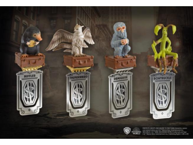 Set Segnalibri dei 4 Animali del Film Animali Fantastici Noble Collection