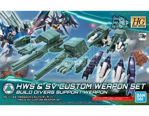 BANDAI MODEL KIT HGBC HWS & SV CUSTOM WEAPON SET 1/144 MODEL KIT