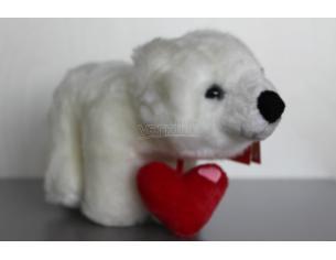 Plush Company 05129 - Orsetto bianco con cuore 20cm Peluche