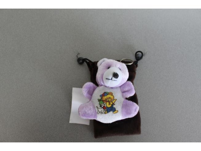 Sacchetto Portacellulare con orsetto viola peluche