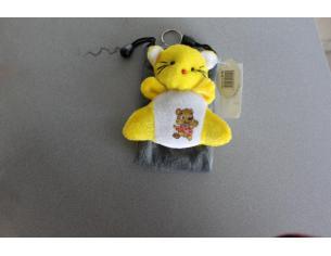 Sacchetto Portacellulare con gattino giallo peluche