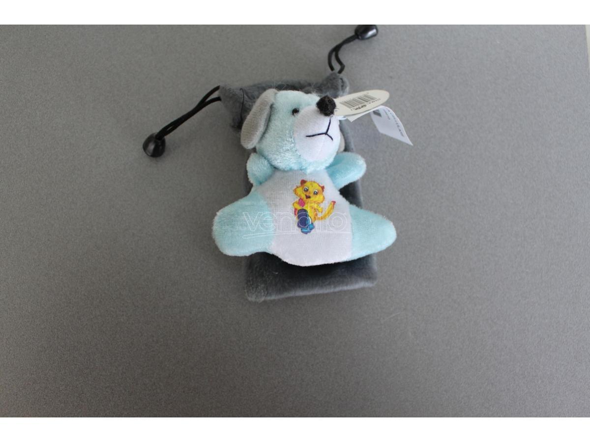 Sacchetto Portacellulare con cagnolino azzurro peluche