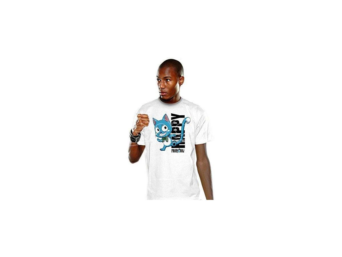 Maglietta Fairy Tail T-shirt Happy Blue taglia L Nekowear