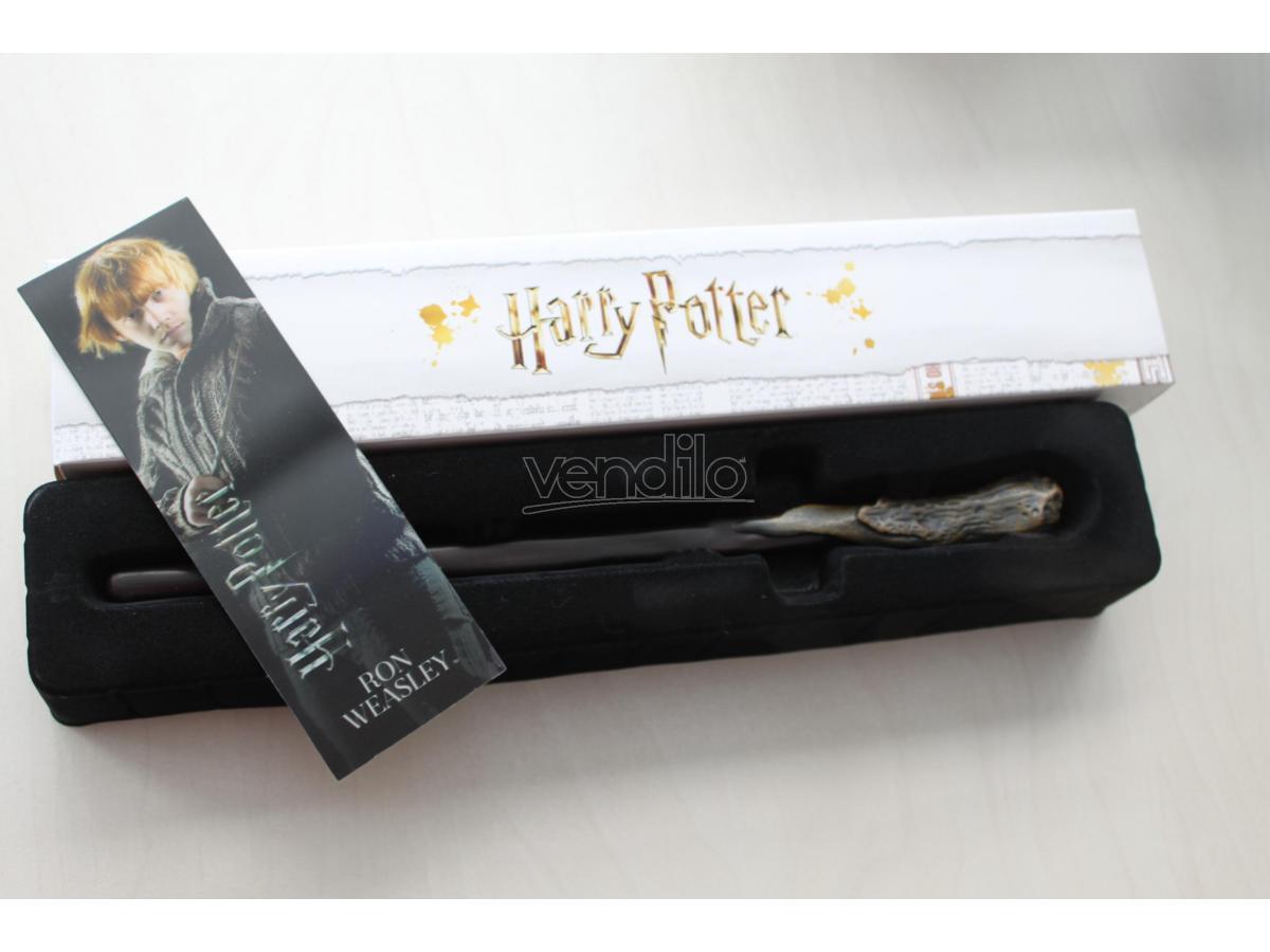 Bacchetta magica Harry Potter - Ron Weasley con segnalibro 3D Noble Collection