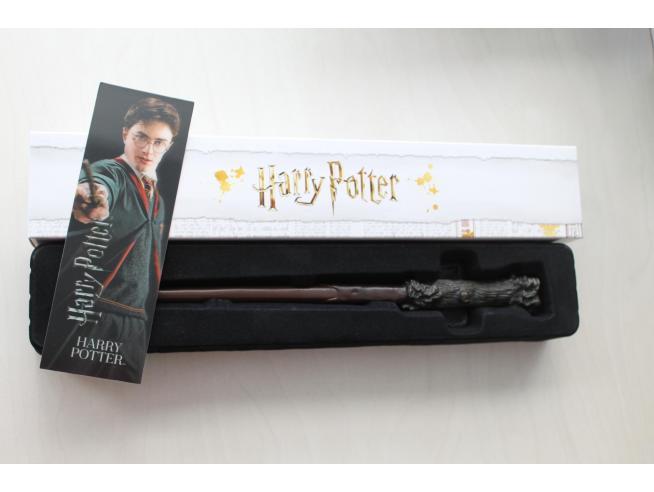 Bacchetta magica Harry Potter - Harry Potter con segnalibro 3D Noble Collection